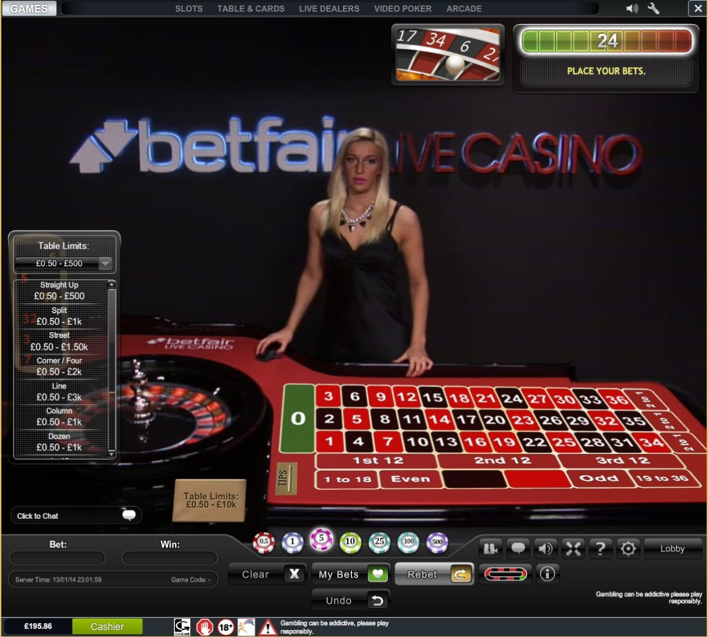 Roulette 10 in a row
