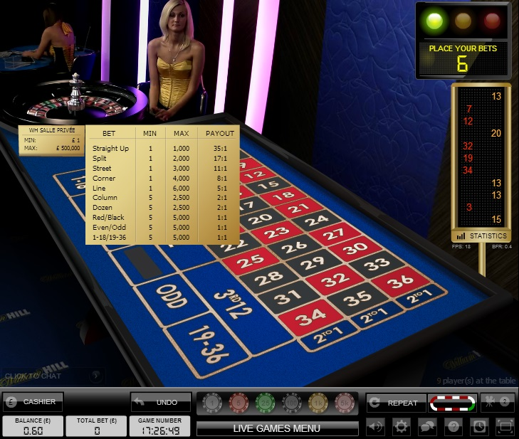 william hill casino club roulette